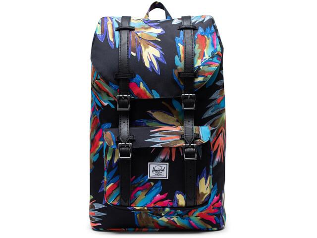 Herschel Little America Mid-Volume Backpack 17l, zwart/bont
